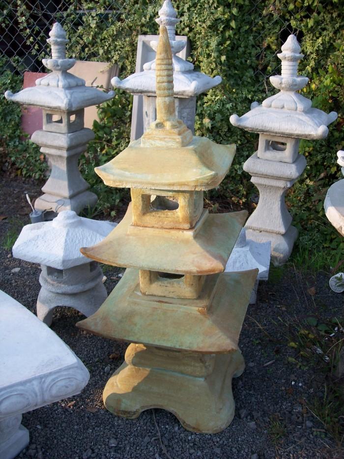 Asian garden art and statuary concrete garden decor for Japanese garden decor
