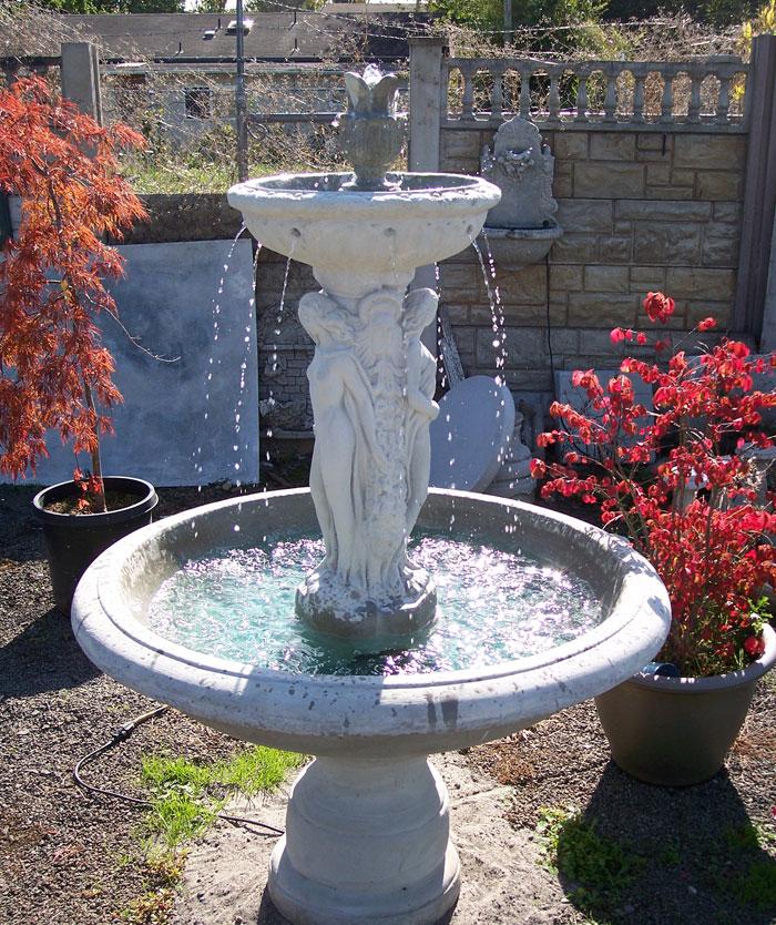 Garden fountains patio fountains hanging wall for Garden statues portland oregon