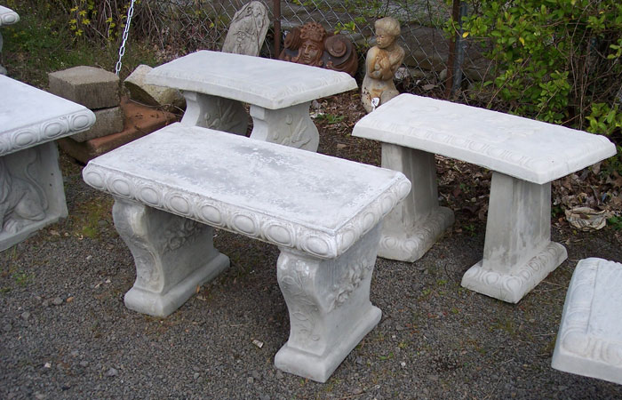 Garden tables and benches concrete decorative bench portland garden decor Decorative benches