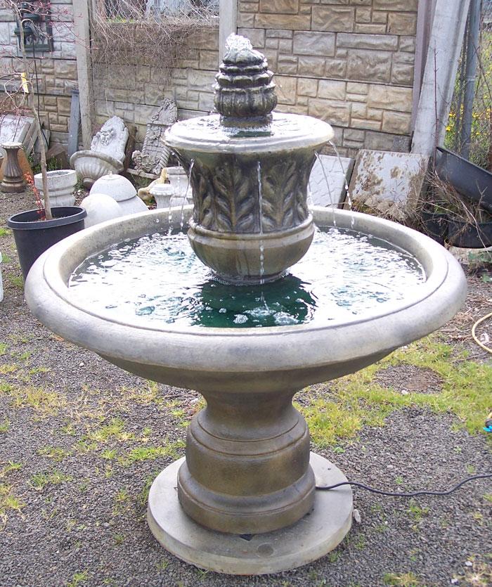 Garden fountains patio fountains hanging wall for Garden fountains portland oregon