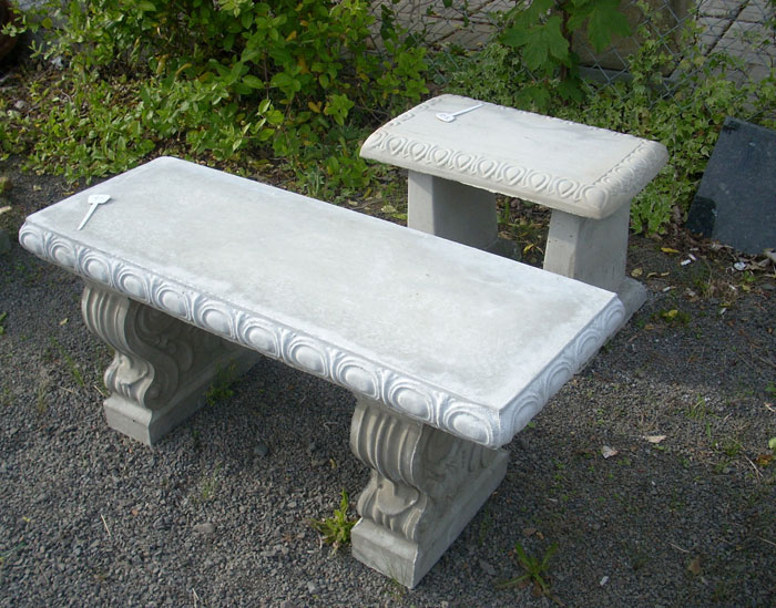 Garden Tables and Benches Concrete Decorative Bench  : DSCN2382 from portlandgardendecor.com size 700 x 549 jpeg 124kB
