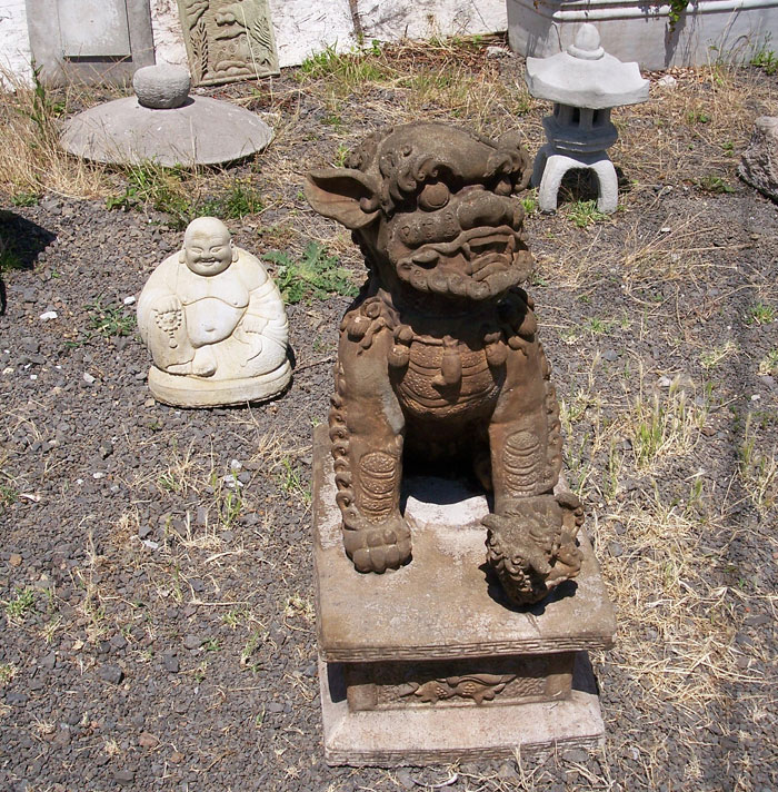 concrete chinese art concrete asian statues and garden - Concrete Garden Decor
