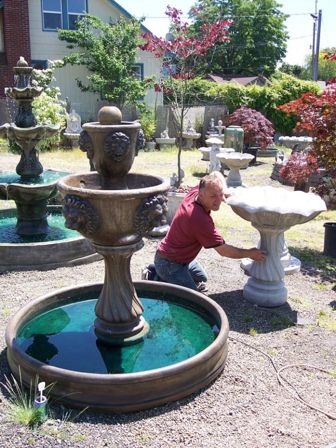 The artist handmade concrete garden fountains portland for Garden fountains portland oregon