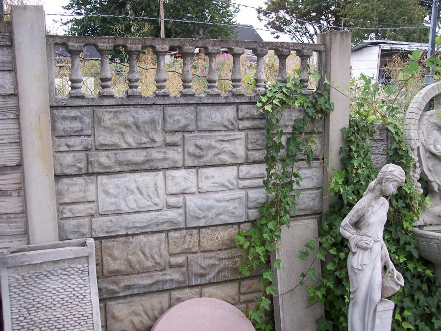 brick style concrete fence