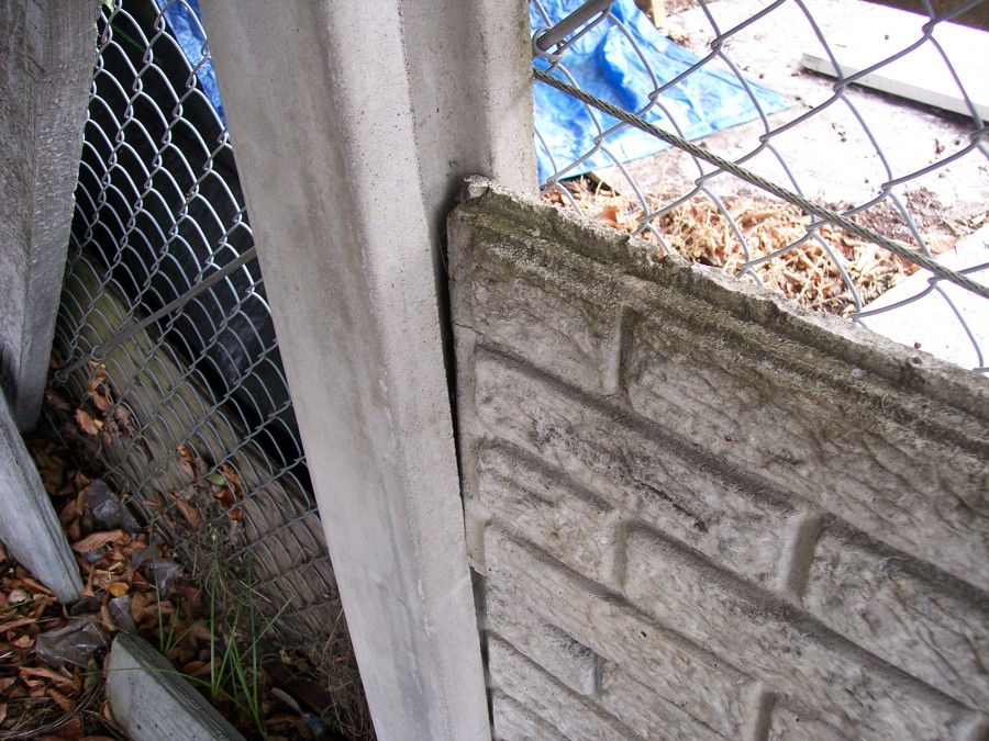 concrete section plus post